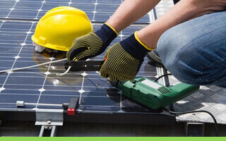 Domestic solar panel installation quotes.