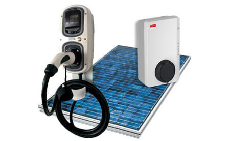 EV charging capabilities with PV solar panels in the UK.