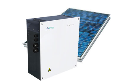 PV (Photovoltaic) solar panels with a battery storage installation.
