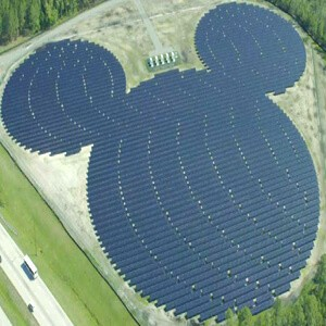 Disney's PV solar panel park in Florida.
