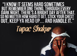 Keep your head up and your eyes open.