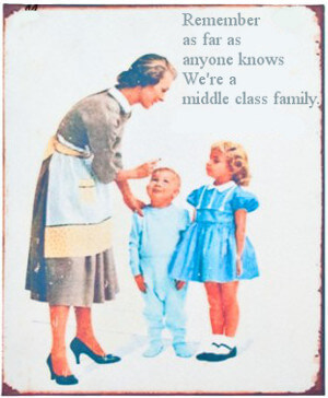Appearing to be middle class.