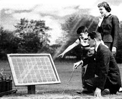 PV solar panels have been around for over 100 years.