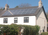 Domestic solar panels.