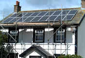 Record PV solar panel installations in the United Kingdom.
