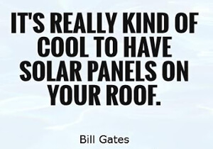 They don't want you to generate your own power which makes solar technologies cool.
