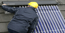 A happy new year with PV soar panels.